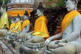 Ayutthaya, Thailand: Buddhas at Thai Wat — Stock Photo
