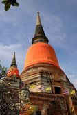Ayutthaya, Thailand: Chedis at Wat Yai Chai Mongkon — Stock Photo