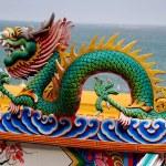 Bang Saen, Thailand: Dragon Figure at Chinese Temple — Stock Photo #72516247
