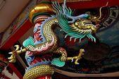 Bang Saen, Thailand: Dragons at Chinese Temple — Stock fotografie