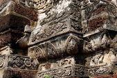 Ayutthaya, Thailand: Detalj på tempel ruiner — Stockfoto