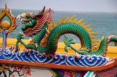 Bang Saen, Thailand: Dragon Figure at Chinese Temple — Stock Photo