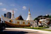 Bangkok, Tajlandia: Wat Yanawa łodzi kamień — Zdjęcie stockowe