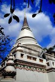 Bangkok, Thailand: Wat Pathum Wanaram Chedi — Stock Photo