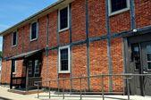 Lititz, PA:  18th century Fachwerk Meeting House — Stock Photo