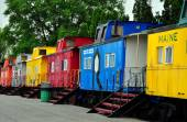 Ronks, PA: Red Caboose Motel — Stock Photo