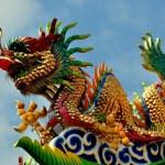 Chiang Mai, Thailand: Pung Tao Gong Temple Dragon — Stock Photo #76796153