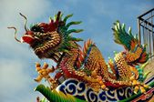 Chiang Mai, Thailand: Pung Tao Gong Temple Dragon — Stock Photo