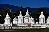 Chiang Mai, Thailand: Wat Suan Dok Reliquary Tombs — Stock Photo