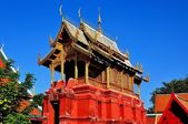 Lamphun,Thailand: Repository Library at Thai Temple — Stockfoto