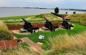 Baltimore, MD: Fort McHenry Cannons — Stock Photo