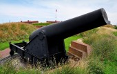 Baltimore, MD: Fort McHenry Cannon — Stock Photo