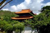 San Ya, China: Nanshan Temple Pavilion — Stock Photo