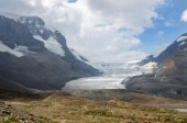 Glacier on the Icefield Parkway — Stock Photo