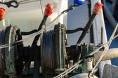 Winch of a fishing vessel — Foto Stock