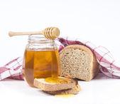 面包和蜂蜜 — 图库照片