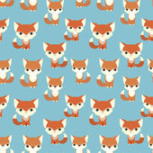 Pattern with fox and squirrel — Stock Vector