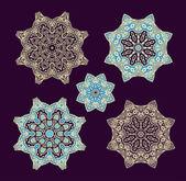 Decorative christmas snowflakes — Vector de stock