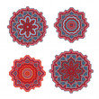 Set of decorative rosettes — Stock Vector #53109111