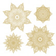 Set of rosettes- snowflakes — Stock Vector #53109535
