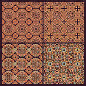 Set of patterns in arabic style — Stock Vector