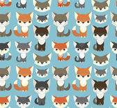 Seamless pattern with animals — Stock Vector