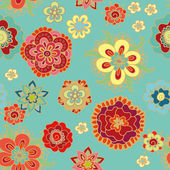 Floral pattern in scandinavian style — Stock Vector