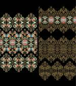 Set of laced patterns — Wektor stockowy