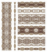 Seamless laced patterns — Stock Vector