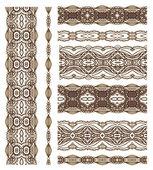 Sem costura padrões atados — Vetorial Stock