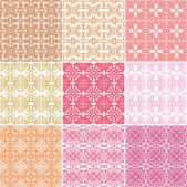 Set of seamless laced patterns — Wektor stockowy