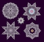 Decorative stars-rosettes — Stock Vector