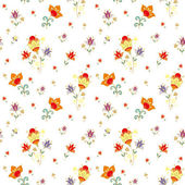 Floral pattern with harebells — Stock Vector
