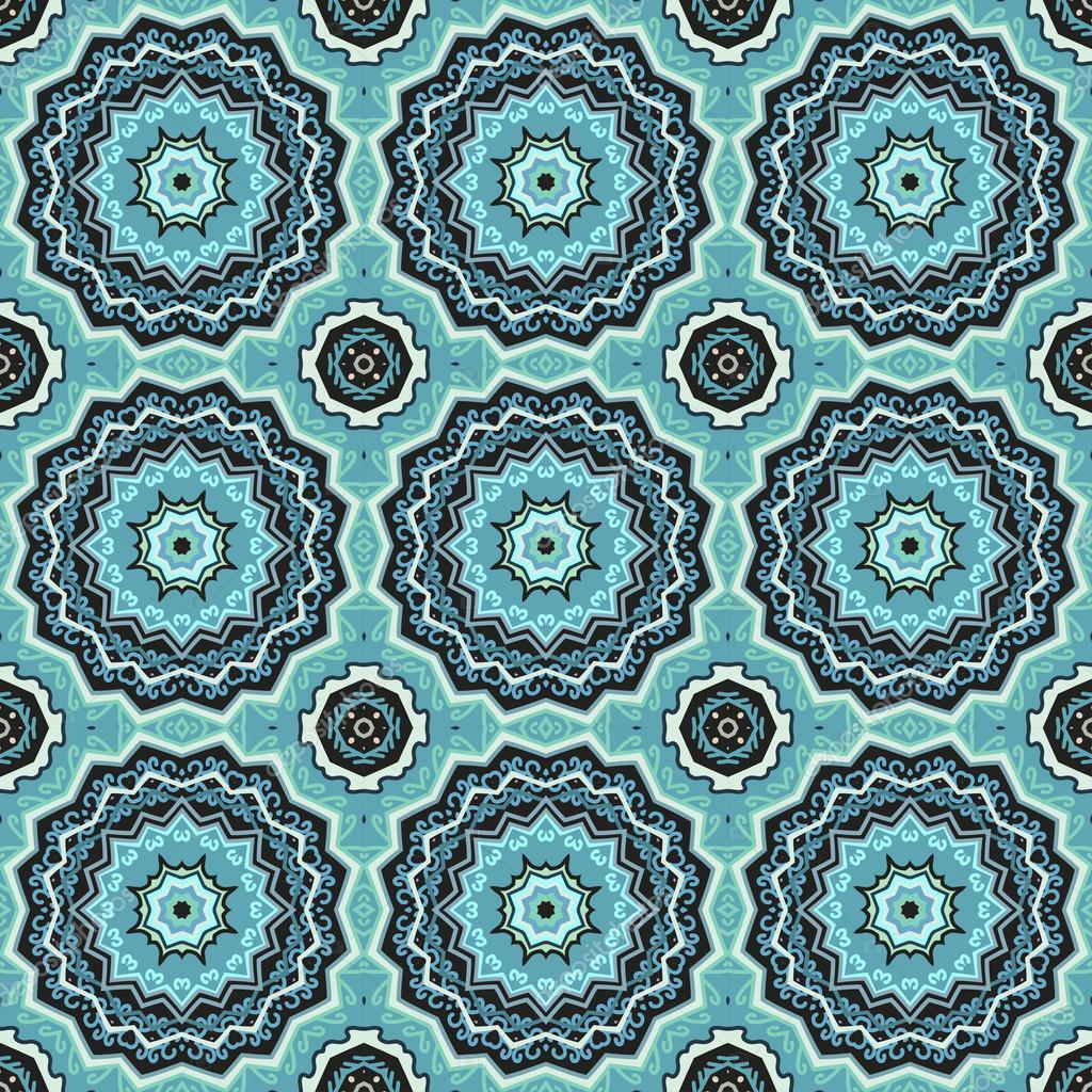 阿拉伯风格的无缝花纹