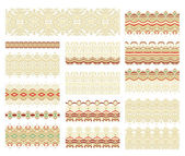 Set of decorative seamless ribbons — Stock Vector