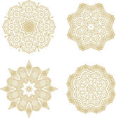Set of snowflakes-rosettes — Stockvektor