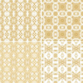 Set of seamless laced patterns — Stock Vector