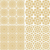 Decorative laced seamless pattern — Stockvektor
