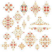 Set of laced patterns — Stock Vector