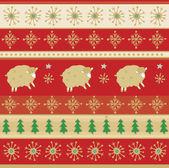 Decorative Christmas pattern — Stock Vector