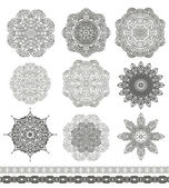 Snowflakes-rosettes for christmas — Stock Vector