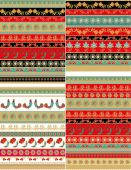 Decorative patterns and ribbons — Stock Vector