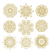 Set of decorative rosettes — Stock Vector