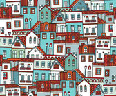 Pattern with houses — Stock Vector
