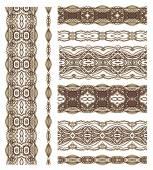 Set of decorative ribbons — Stock Vector