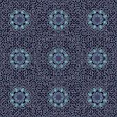 Decorative rosette pattern — Stock Vector