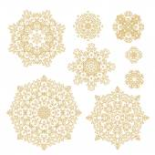 Laced floral rosettes — Stock Vector