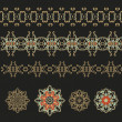 Set of laced decorative elements — Stock Vector #59270495