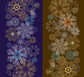 Patterns with snowflakes — Stock Vector