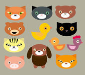 Pets faces — Stock Vector